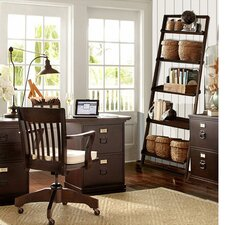 "Glens Falls 72"" Leaning Bookcase"