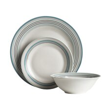 16 Piece Dinner Set in Blue Band