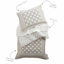 Spots and Dots 4 Piece Toddler Bedding Set