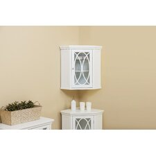 Bourbon Corner 24.75 W x 24.5 H Wall Mounted Cabinet by Elegant Home Fashions