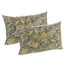 Truffle Cashed Indoor/Outdoor Lumbar Pillow (Set of 2) by Klear Vu
