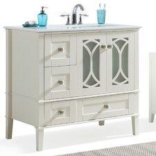 Paige 36 Right Offset Single Bathroom Vanity Set by Simpli Home