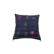 Cactus Kilim Matka Silk Throw Pillow