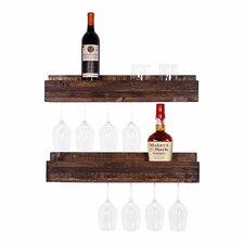 Tristen 5 Bottle Wall Mounted Wine Glass Rack (Set of 2)
