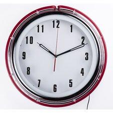 "Neon Diner 16"" Wall Clock"