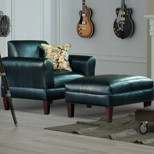Tracy Porter Armchair and Ottoman by Carolina Accents