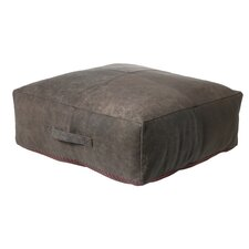Roy Pouf Leather Ottoman by Light & Living