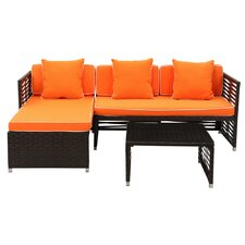 Eulalia 3 Piece Seating Group with Cushions
