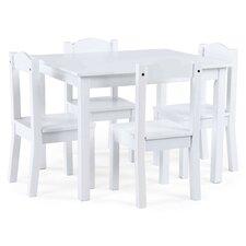 Samira Kids' 5 Piece Rectangular Table and Chair Set