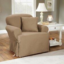 Cotton Duck Armchair T-Cushion Slipcover