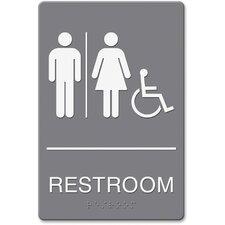 Headline Restroom/Wheelchair Image Indoor Sign