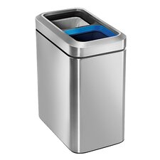 Stainless Steel 5.3 Gallon Multi Compartments Recycling Bin