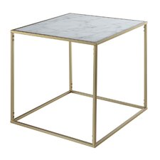 Melandra Faux Marble End Table by Mercer41™