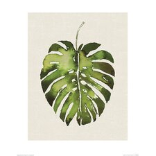 'Tropical Leaf I' Painting Print
