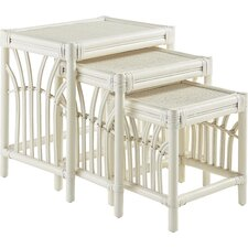 New Kauai 3 Piece Nesting Tables by South Sea Rattan