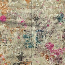 "Urban Chic Street Art 27' x 27"" Abstract Roll Wallpaper"