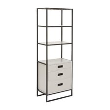 Metal and Wood 65 Standard Bookcase by Cole & Grey