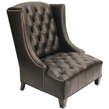 Erwan Leather Wingback Armchair by Darby Home Co®