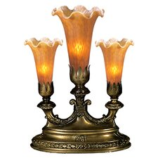 "Victorian Pond Lily Mantelabra 13"" Torchiere Lamp"
