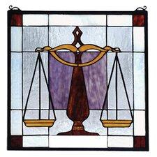 Americana Judicial Stained Glass Window