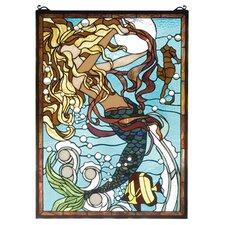 Mermaid Sea Stained Glass Window
