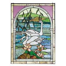 Tiffany Swans Stained Glass Window