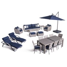 Alfonso Estate Patio 20 Piece Deep Seating Group with Cushion