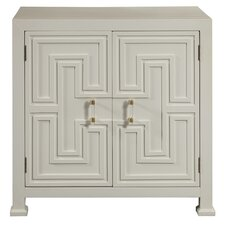 Hollins Geometric Overlay 2 Door Accent Cabinet by Mercer41™