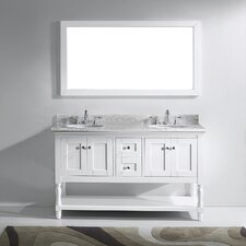 Julianna 60 Double Bathroom Vanity Set with Mirror by Virtu USA