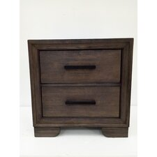 Urban 2 Drawer Nightstand by Ultimate Accents