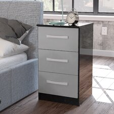 Macy 3 Drawer Bedside Table