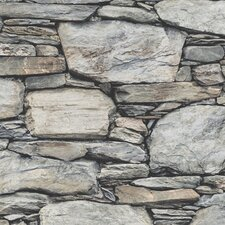 Distinctive Stone Wall 10m x 52cm Wallpaper Roll