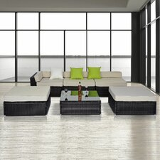 5 Seater Corner Sectional Sofa Set with Cushions