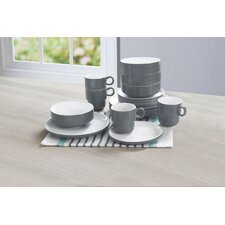 Stacked 16 Piece Dinnerware Set, Service for 4