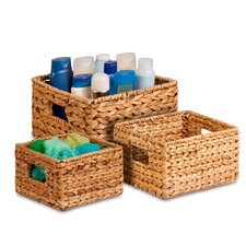 3 Piece Nesting Natural Basket Set