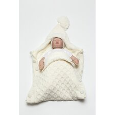 Softy Knitted Wool Blended Baby Sleep Wrap/Bag with Button
