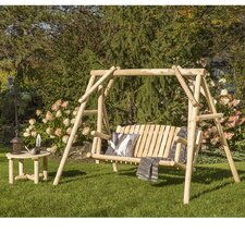Cedar 2 Piece Swing and Coffee Table Set