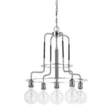Wasilewski Metal 5-Light Shaded Chandelier