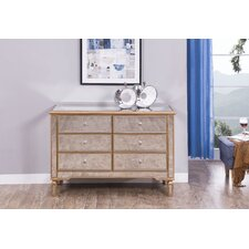 Contempo 6 Drawer Double Dresser by Elegant Lighting