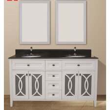 Margaret Garden 60 Double Bathroom Vanity Set by NGY Stone & Cabinet
