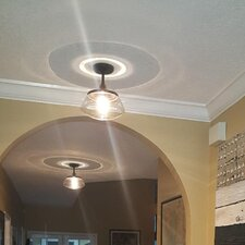 1-Light Semi Flush Mount