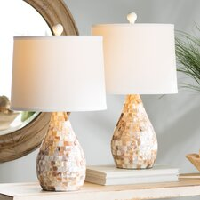 """Eskridge Mother of Pearl Inlay 19.25"""" Table Lamp (Set of 2)"""