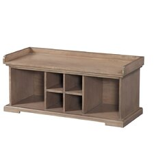 Vienna Wood Storage Entryway Bench by August Grove