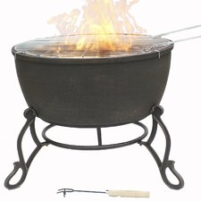 Meredir Cast Iron Wood/Charcoal Fire Pit
