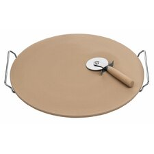 40cm Pizza Stone with Cutter