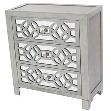 Irvin 3 Drawer Mirror Chest