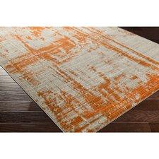 Ferrin Light Gray/Burnt Orange Area Rug