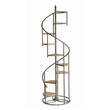 Shauna Spiral Staircase 76 Accent Shelves Bookcase by Laurel Foundry Modern Farmhouse