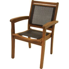 Sling and Eucalyptus Stackable Arm Chair