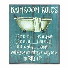 Bathroom Rules Wall Art kitchen rules wall art | wayfair